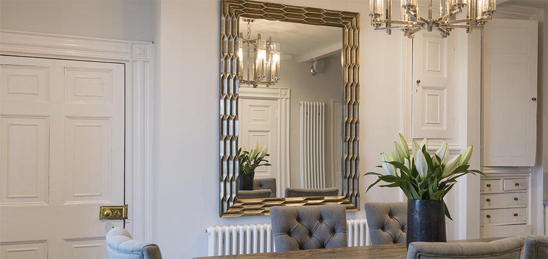 <h2>Mirrors</h2><p>Mirrors make rooms look bigger, brighter,